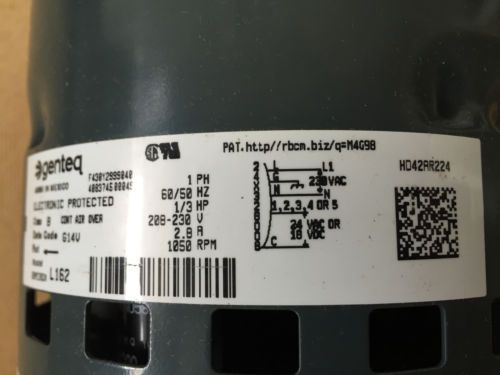 Hd42ar224 Carrier Bryant Blower Motor 5sme39dxl162
