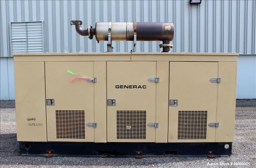 Used- generac 200 kw standby natural gas generator set, model 87a0366-s, sn-2035