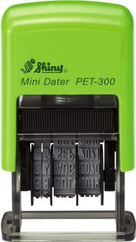 Shiny pet-300 self-inking date stamp  3.8mm character height