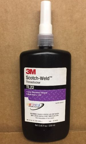 3m scotch-weld threadlocker tl22 low torque removal 8.45 fl oz / 250 ml