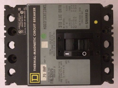 Square D  FAL32070  Circuit Breaker  70 Amp, 3-Pole, 240 Volt � Picture 1