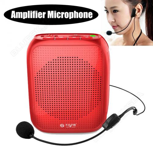 Mini 10w waistband voice amplifier booster+headset microphone for teachers guid