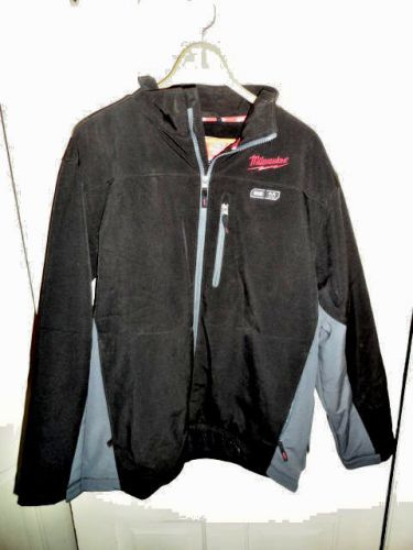 Brand new milwaukee m-12 black and gray mens heated jacket size large (l) new