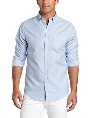 Lee uniforms casual  button-down large long sleeve oxford shirt light blue