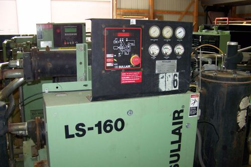 Sullair ls160 100 hp. rotary screw air compressor