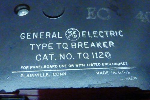 GE,General Electric TQ1120 20 Amp ,120 Volt,1 Pole  Type TQ NI Circuit Breaker, US $5.70 � Picture 5