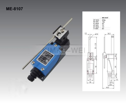 5x Mechanical Control Rotatable Lever Micro Limit Switch ME-8107 New, US $19.90 � Picture 2