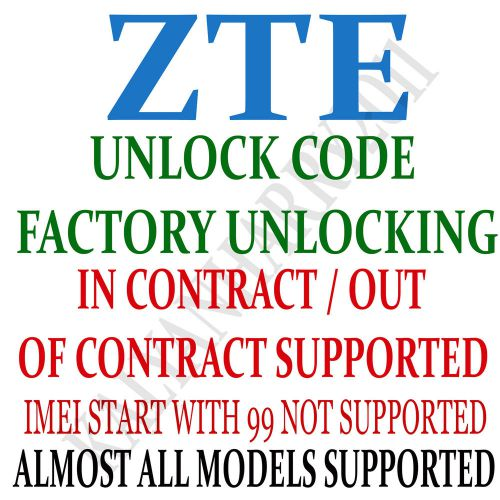 Unlock code for zte blade g plus fast service factory unlock code
