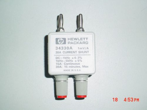 Hp agilent 34330a 30 amp current shunt
