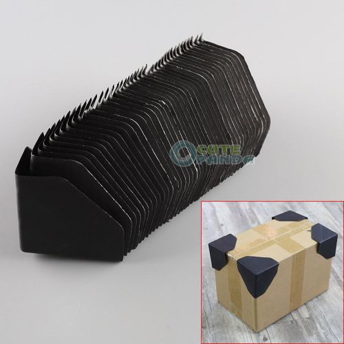"40 pcs plastic packing corner protector shipping edge cover 3"" black"