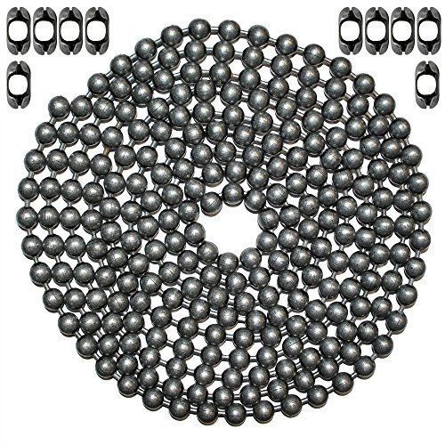 Ball chain manufacturing 10 foot length ball chain, #20 size, dungeon finish, &