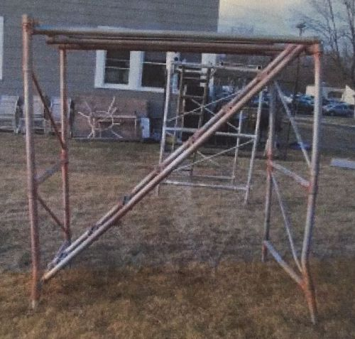 Upright scaffold co. 2 sections aluminum stairway scaffold
