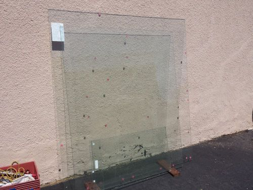 "Sonora valley window works 62x57 piece of clear 1/4"" tempered glass window +"