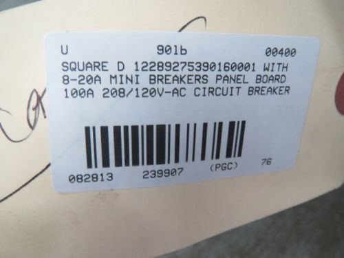 SQUARE D 12289275390160001 CIRCUIT BREAKER PANEL BOARD 100A 208/120V-AC B239907, US $100.75 � Picture 6