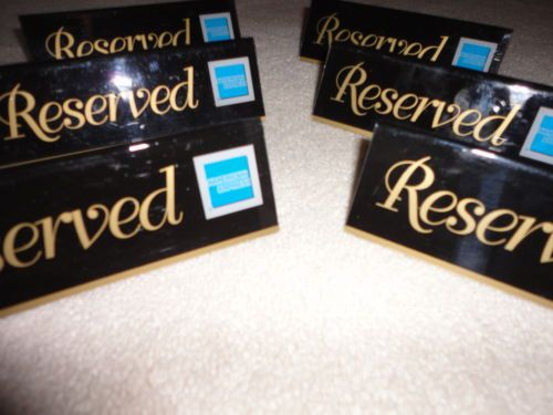6 reserved table restaurant stands signs acrylic 6 x 2 american