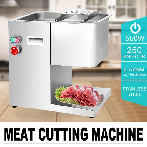 250Kg Hour Stainless Steel Meat Cutting Machine Restaurant Beef Cutter Slicer