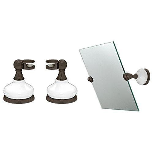 Crl porcelain and oil rubbed bronze mirror pivots