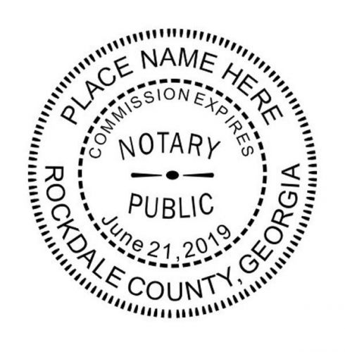 Georgia round notary self inking rubber stamp