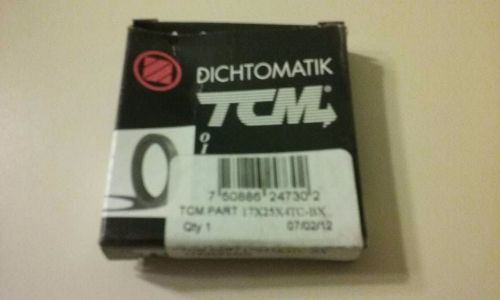 Tcm shaft oil seal tc17x25x4 rubber lip 17mm/25mm/4mm metric new