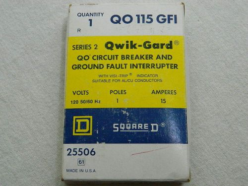 New in box square d qo115gfi qwik-gard gfi circuit breaker 15 amps 120 volts