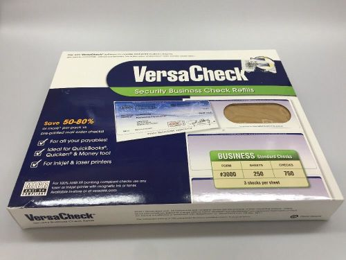 versa business check paper