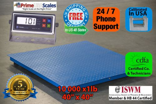 "5 year warranty 10000lb/1lb  40"" x 40"" floor scale /pallet scale with indicator"