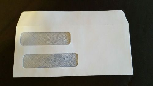 "Double window white envelopes 8 1/2"" x 3 3/4"" 500ct"