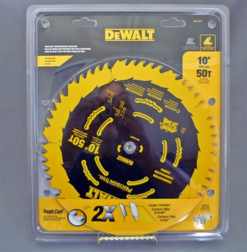 "Brand new 10"" dewalt 50 tooth carbide circular saw blade for wood tough coat"