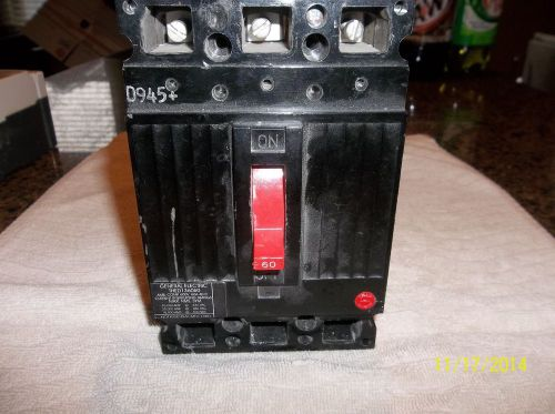 Ge thed 136060 3 pole 60 amp 600 volt circuit breaker