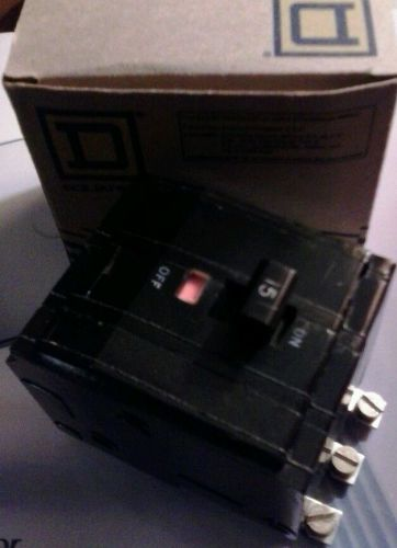 New in box - square d qob315 circuit breaker - free shipping