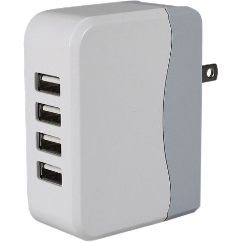 Qvs 4-port 4.9amp usb universal ac charger with folding electronic new