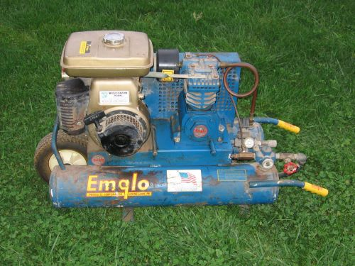 Emglo gas powered wheel barrow portable air compressor model k5wga-8p tools nail