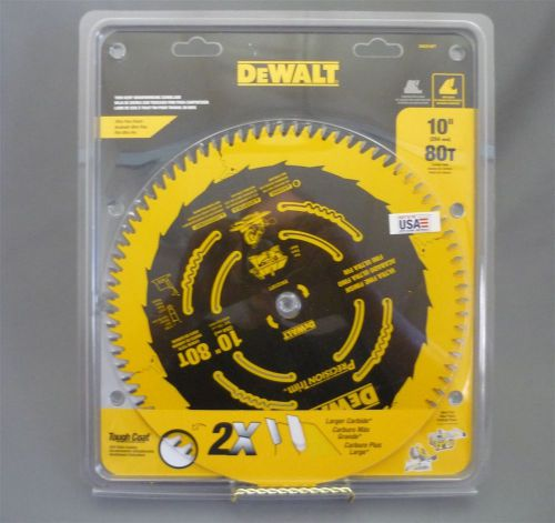 "Brand new 10"" dewalt 80 tooth carbide circular saw blade for wood tough coat"