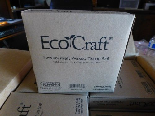 2  boxes ecocraft  natural kraft  waxed  tissue  6 x 6  1000 sheets