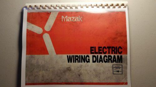 mazak integrex 30/35 w/pc fusion 640t electrical wiring diagram manual rare!
