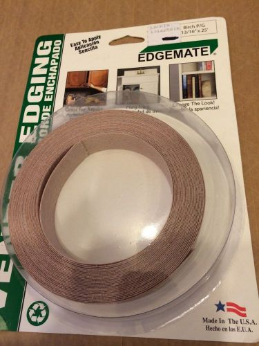 "Edgemate pre glued birch 13/16"" edgebanding 25' for iron on application"