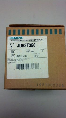 Siemens jd63t350 circuit breaker trip unit *nib*
