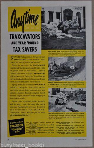 1952 JOY AIR TRACTOR advertisement, Trairactor, Joy Mfg