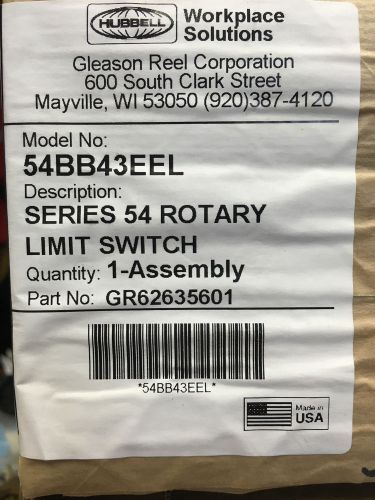 Hubbel - model no: 54bb43eel - series 54 rotary limit switch