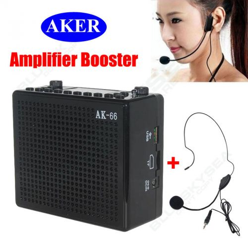 Ak66 portable loud voice booster amplifier amp speaker w/ mic for coachers black