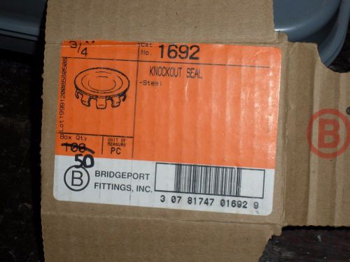 "Fifty (50) ~3/4"" knock out seals~ *new no box* ~bridgeport fittings~ (cat:1692)"