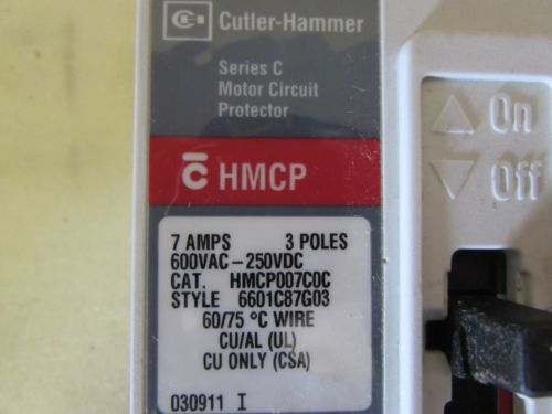 CUTLER HAMMER HMCP007CDC MOTOR CIRUIT PROTECTOR NEW, US $39.99 � Picture 5