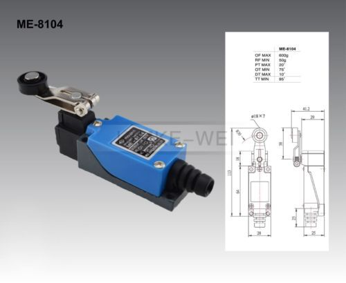 5x Rotary Plastic Roller Arm Enclosed Micro Limit Switch ME-8104, US $19.90 � Picture 2