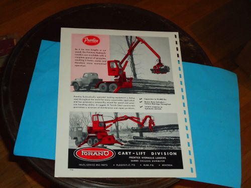 1950's-1960's Prentice Log Loader Sales Page   TZSupplies com