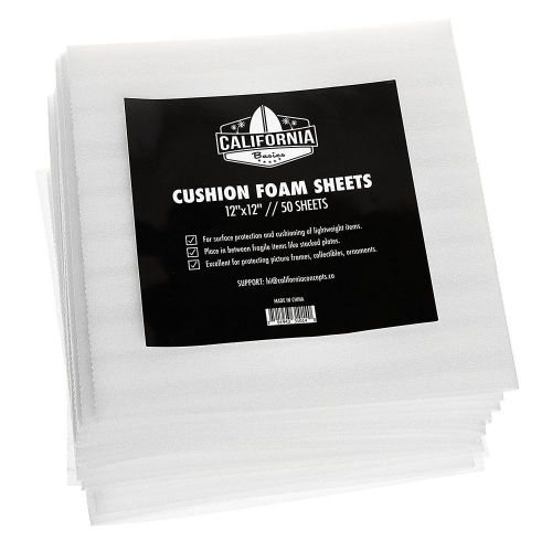 12�x12� cushion foam sheets, packing supplies, safely wrap dishes, 50 pack
