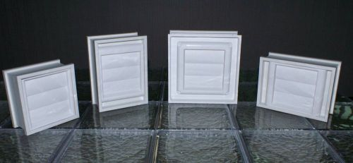 8x8x3 Vinyl, Glass Block Dryer Vent with Sleeve � Picture 1