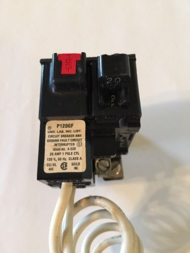 Pushmatic Circuit Breaker 20 Amp 1 Pole P120GF GFCI GFI, US $32.00 � Picture 2