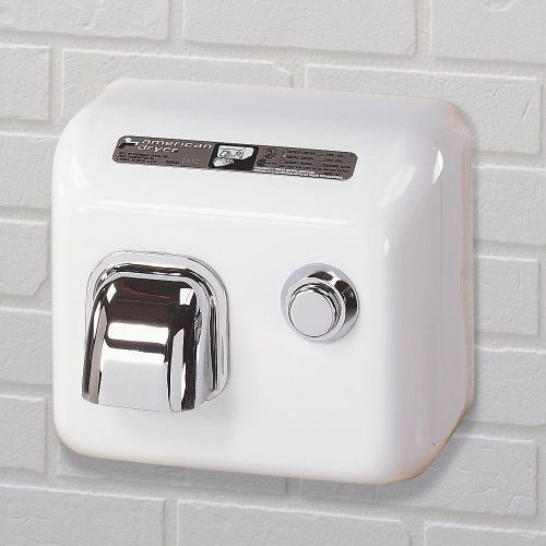 New american dryer dr20n steel cover push button hand dryer, 110-120v, white