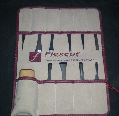 Flexcut sk107 11pc carving set kit + handle and storage pouch hardly used