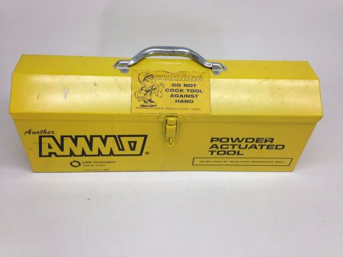 Usm corporation ammo powder actuated fastening tool model ks case, fasteners